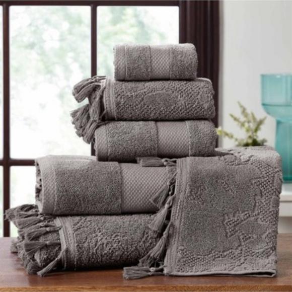 Nordstrom Other - **Nordstrom Jacquard Tassels Towel 6-Piece Set NWT